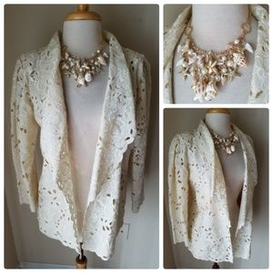 Caro Honolulu Caromat Vintage Cream Eyelet Jacket